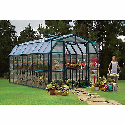 Rion Grand Gardener 2 Clear Greenhouse - 8ft.W x 16ft.L, Model# HG7216C