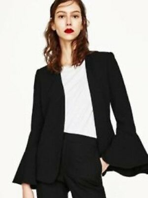 Sold Out ZARA Bell sleeve blazer NEW BNWT XS bloggers favourite