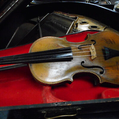 Antique 19th Century 4/4 Violin with Inlay