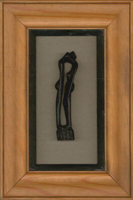 Framed Contemporary Sculpture - Carved Wooden Sculpture of an Embracing Couple