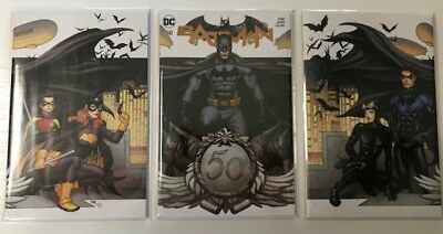 Batman #50 (2018) Frank Cho Variant Cover Set of 3 Catwoman Wedding!   In hand!