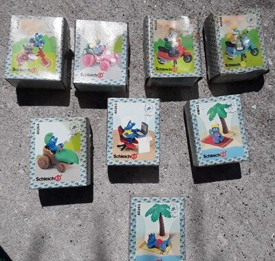 8 Smurf lot, figurines