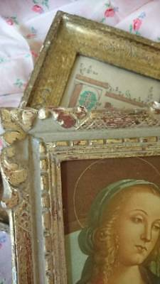 2 Superb Vintage French Shabby Chateau Timeworn Gilded Wood Picture Photo Frames