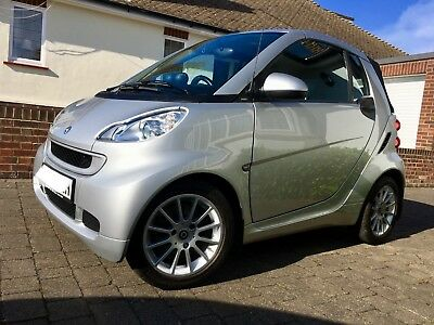 Smart 4 Two convertible MHD  Silver 2011 FREE TAX, Sat Nav, FSH, HIGH SPEC!!