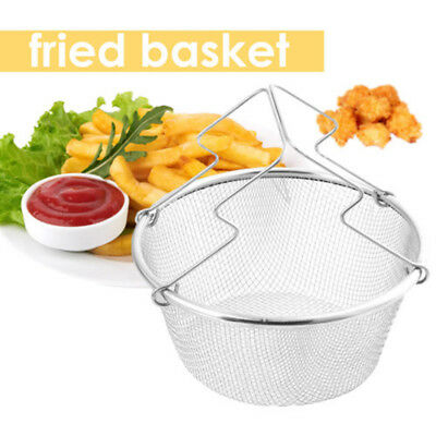 Edelstahl Korb Griff Friteuse Rost-Beweis Küche Chef French Fried Fry Portable