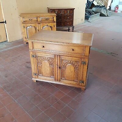 Titchmarsh & Goodwin Solid Oak Furniture Media/music/storage Cabinet Very Clean
