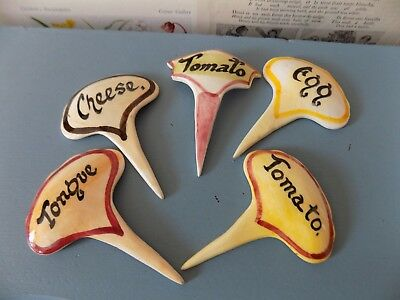 Toni Raymond sandwich signs pottery markers tea shop cafe lot 1