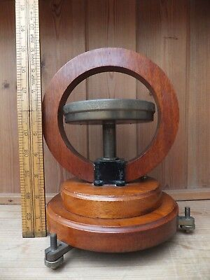 Vintage Tangent Galvonometer, Scientific Instrument. Mahogany