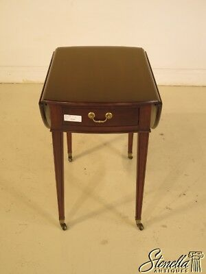 25596: ETHAN ALLEN Georgian Court Cherry Pembroke End Table