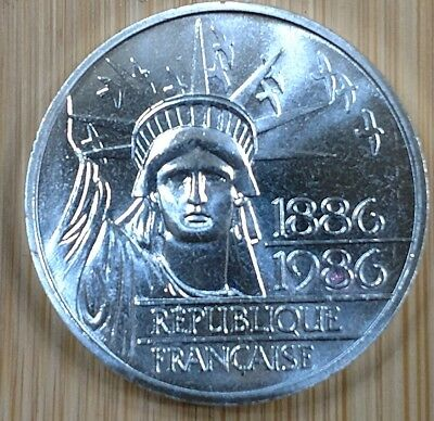 1986 France 100 Francs Statue Of Liberty coin - SILVER PIEDFORT (THICK)