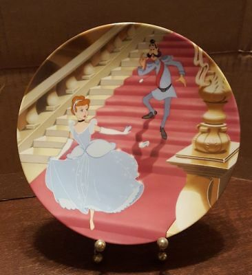 """Disney Cinderella Collector Plate """"At the Stroke of Midnight"""" by Knowles"""