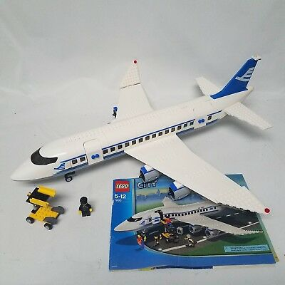 Lego City 7893 Passenger Plane And Instructions No Box 98 Complete