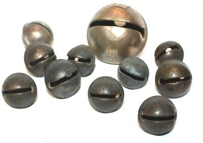 Selling a variety of (11) solid brass  PETAL sleigh bells from the 1800's.  *21