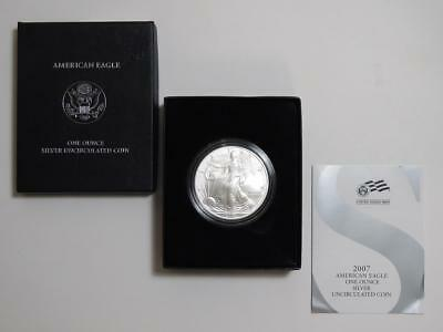 2007-W American Silver Eagle - Burnished Uncirculated - 1 oz ASE