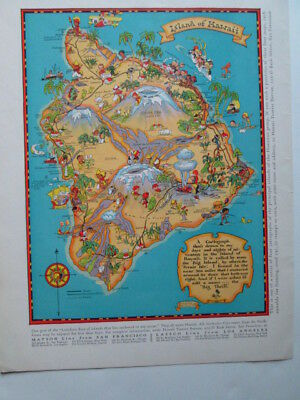 Illustrated map of the Island of Hawaii 1931