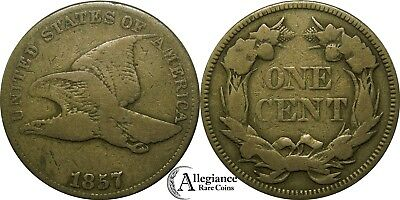 1857 1c Flying Eagle Cent FS-401b Obverse of 1856 rare old type coin penny A