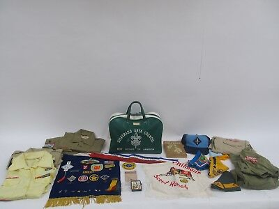 Collector's Lot - Boy Scouts - Badges Patches Shirts Bag Book Hat Awards Textile