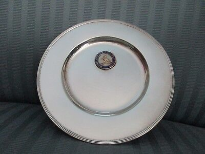 GORHAM Plate 1915 NATIONAL HORSE Show ASSOCIATION of AMERICA STERLING SILVER NM