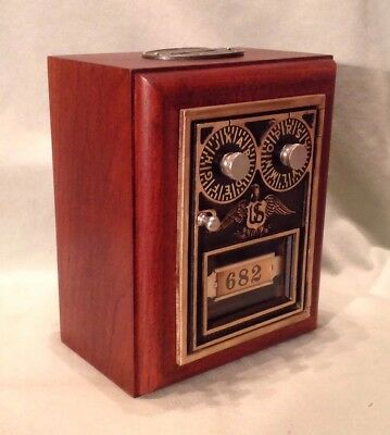 Antique Vintage Post Office Door Mail Box Postal Bank-1930 Corbin DDial Eagle