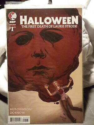Halloween Comic book the first death of Laurie Strode cover 1C unread condition