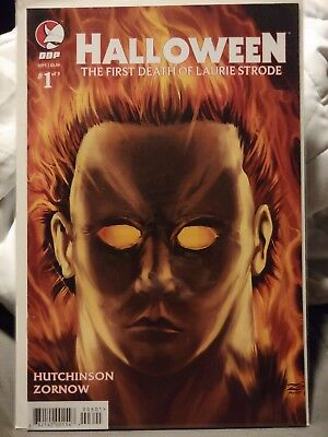Halloween Comic book the first death of Laurie Strode cover 1A unread condition