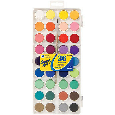 Loew Cornell Simply Art Watercolour, Watercolor Paint Cakes 36, Artist, Brush