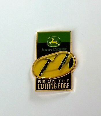 John Deere Advertising Hat Lapel Pin Be On The Cutting Edge NEW in Package
