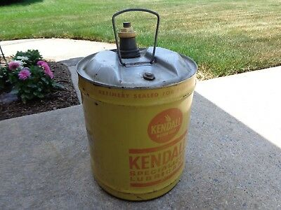 Vintage 5 Gallon  Kendall Special Lubrication Can
