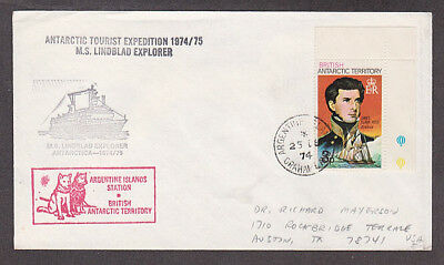 British Antarctic Territory - 1974 Cacheted cover with Argentine cancel mailed