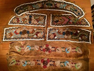 INDIAN NATIVE AMERICAN BEAD WORK PATCHES REENACTMENT Mountain Man