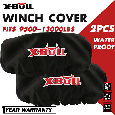 X-BULL Waterproof Soft Winch Cover fits 9,500-13,000LBS Winch Dust Cover 2PCS