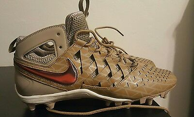 Nike Huarache V Lax Elite Lacrosse Cleats 807120-200 11.5 Khaki Thompson Brother