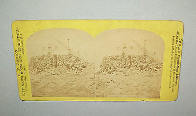 Old antique vtg 1870s Tip Top House Mt Washington NH Stereoview Photo Card Nice