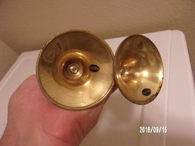 """Pair of Vintage Brass Candlesticks Holders 5 1/2"""" Made In India"""