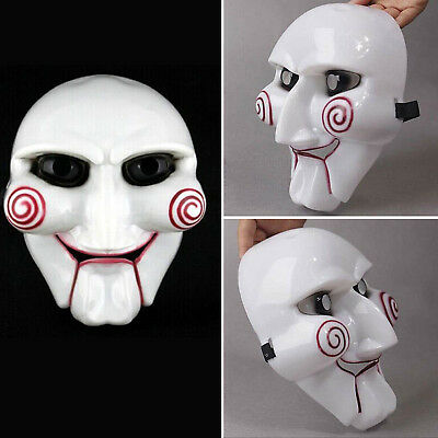 Saw Jigsaw Puppet Face Mask Horror Dress Up Halloween Costumes Cosplay Party New