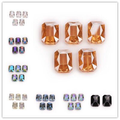 5PCS 18mm Charm Hexagon Faceted Crystal Glass Spacer Loose Beads Jewelry Design