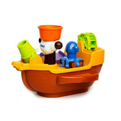 Tomy Pirate Ship squirt water Floating Toy Baby Kids toddler Bath time Activity