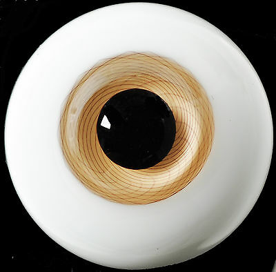 Nice Light Brown Iris withStripes 14mm Glass Eyes for Ball Joint 1/4 BJD Dollfie