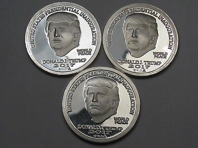 3 NORFED 2017 Inauguration TRUMP Silver Rounds. 1 Troy oz .999 Fine Silver.  #16