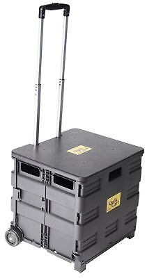 dbest products Quik Cart Two-Wheeled Collapsible Handcart with Black Lid Roll...