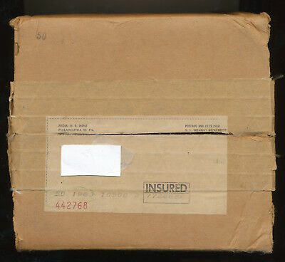 NO Coins ORIGINAL US Mint SHIPPING BOX that held 50 Silver Unopen 1963 Proof set