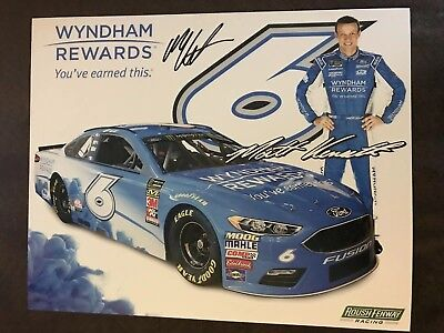 Matt Kenseth Signed Promo Hero Card Nascar Autographed 2018