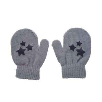 Baby Kids Five-pointed star Pattern Gloves Boys Girls Winter Warm Knitted M X4E6