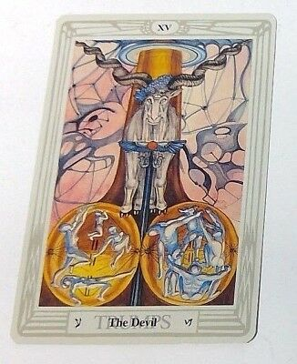 The Devil XV single tarot card Crowley Large Thoth Tarot 1996 AGM Agmuller