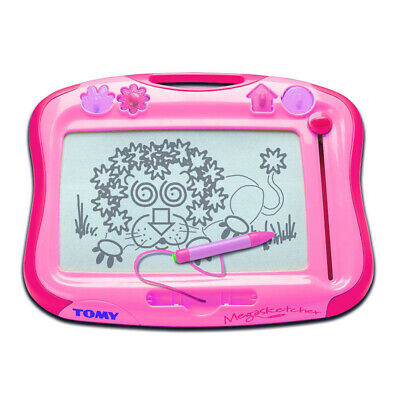 Tomy Pink etch a sketch Classic Draw Drawing Writing Board Toy Kids Children 3+