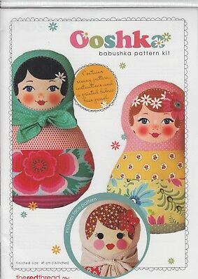Ooshka Babushka Pattern Kit - PATTERN and Face Panel - fun & easy doll to make