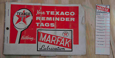 Texaco Marfak Oil Reminder Tags 1957