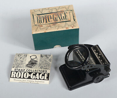 Vintage Roto Gage Stamp Measuring Counting Perforations