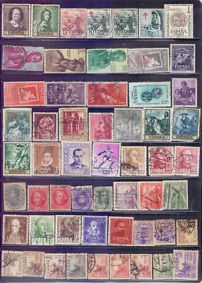 Spain  Selection of 114 used stamps.