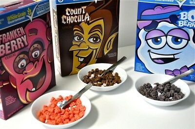 Count Chocula, Boo Berry, Frankenberry Limited Time Cereals 2018 FREE SHIPPING